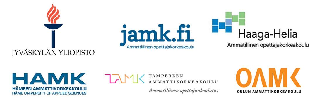 Tunnukset JYU, JAMK, HAMK, TAMK, OAMK, Haaga-Helia