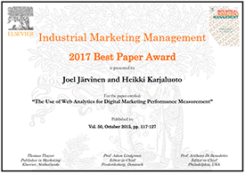 JSBE marketing research received a great recognition