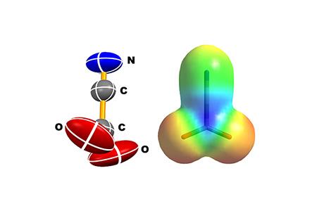 Molecular structure of cyanoformate