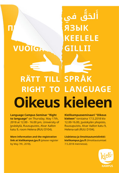 Right to language poster