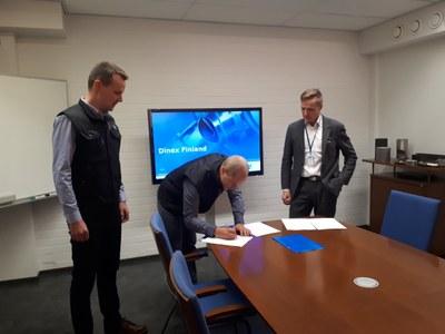 Dinex Finland Oy ja Jyväskylän yliopisto vahvistavat yhteistyötä