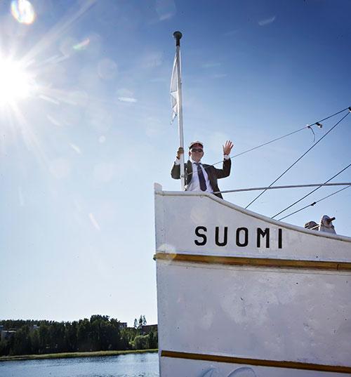 Rehtori Suomi-laivalla