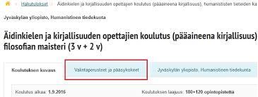 Opintopolku.fi Valintaperusteet ja pääsykokeet