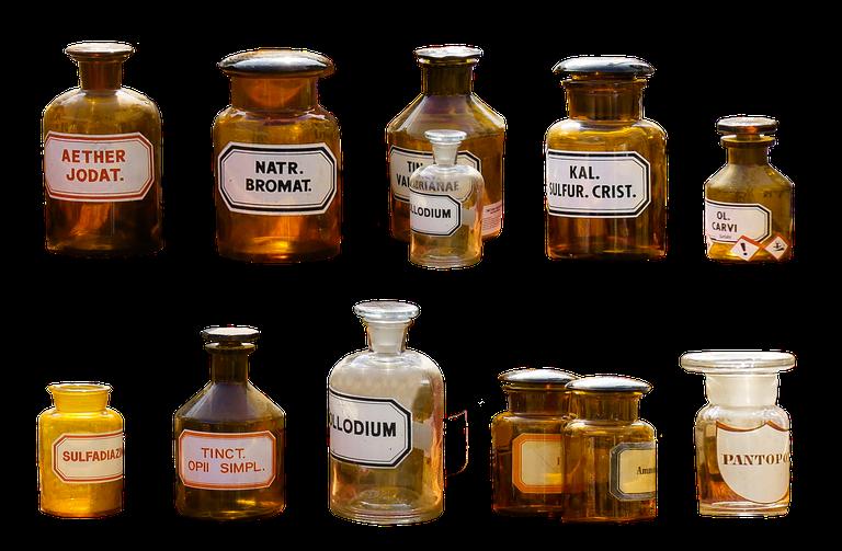 lääkepulloja