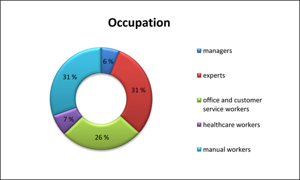 Occupation distribution