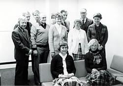 Mustavalkoinen ryhmäkuva, black and white group picture