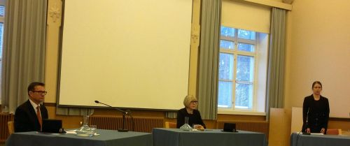 Doctoral defence of Kaisu Kumpulainen on the 8th of December 2013.