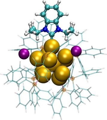 N-heterocyclic carbene-functionalized magic-number gold nanoclusters.jpeg