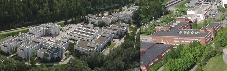 Matemaattis-luonnontieteellisen tiedekunnan laitosrakennukset (kuvaaja: Timo Sajavaara).